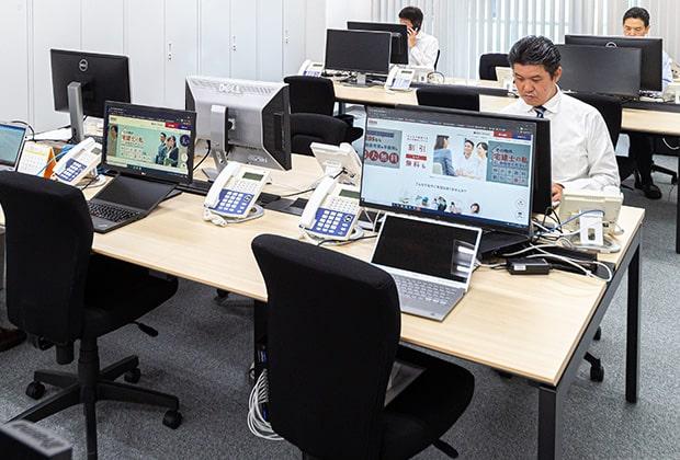 ▲2020年10月に移転した東京営業所。東京勤務の場合はこちらです。