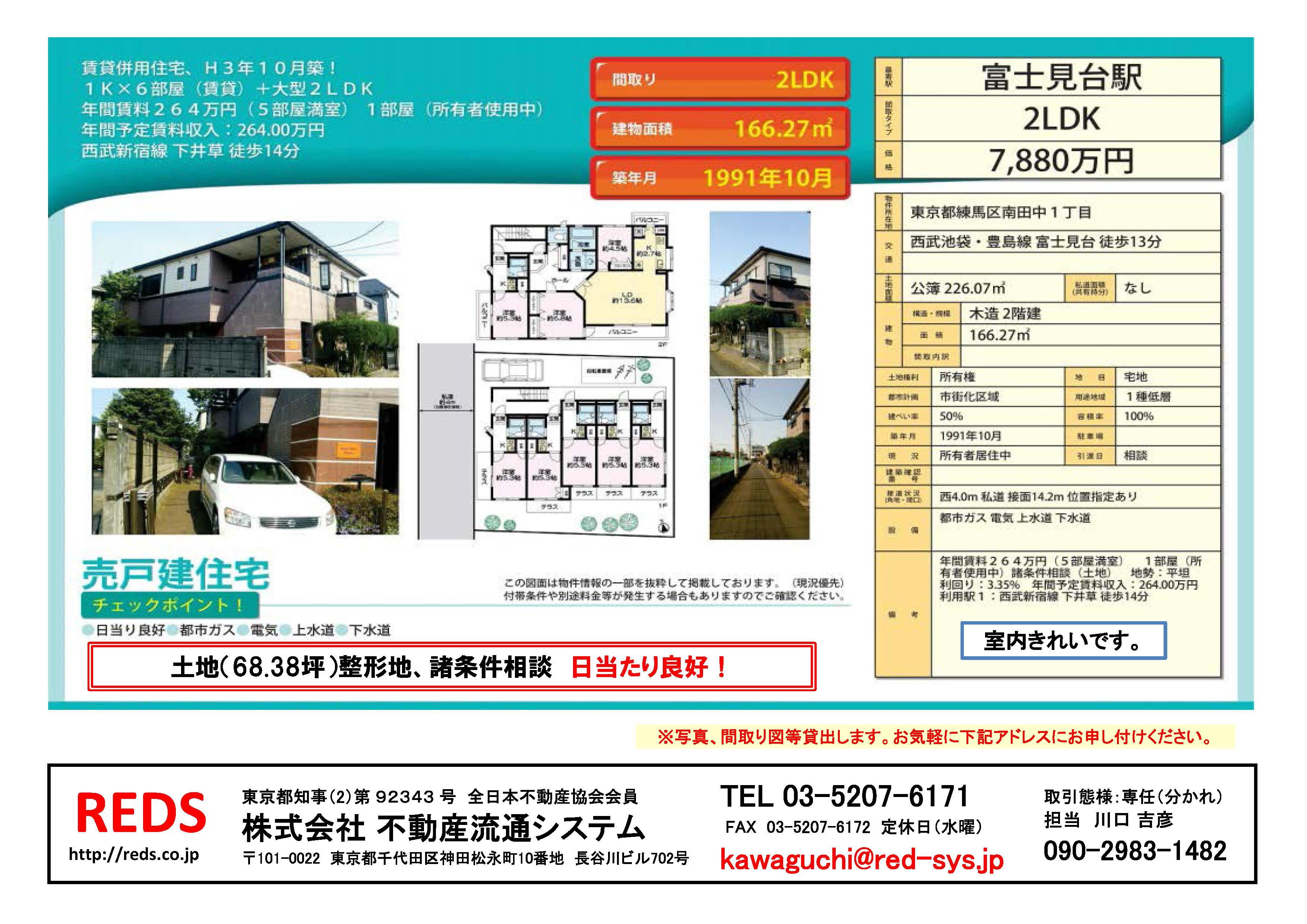 富士見台7880万円
