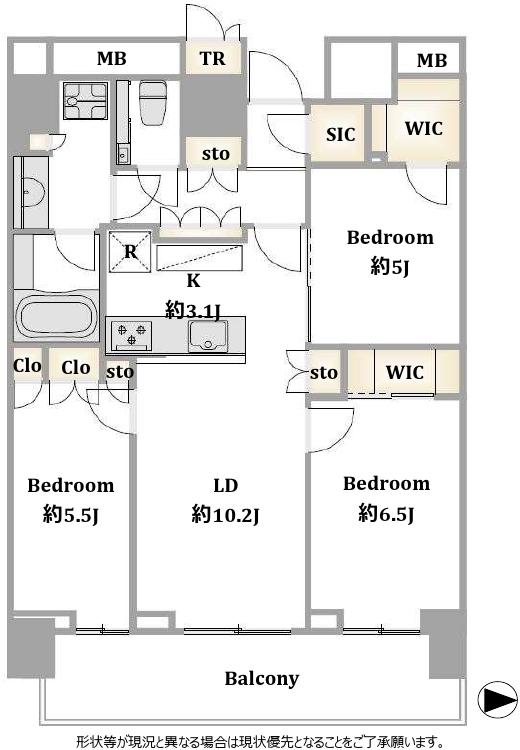 仲介手数料無料ザ・パークハウス晴海タワーズクロノレジデンス1313号室7,599万円