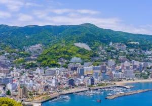 静岡県熱海市の街並み