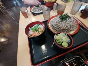 つか蕎麦・しらすと桜エビのミニ丼セット(蕎麦大盛)