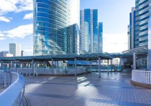 (東京都ー都市風景)品川駅前の風景1