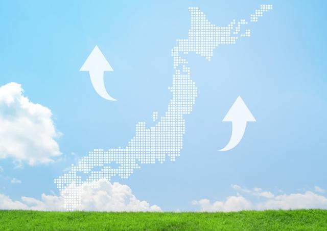 日本の地価上昇へ