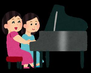 二人の女性とピアノ